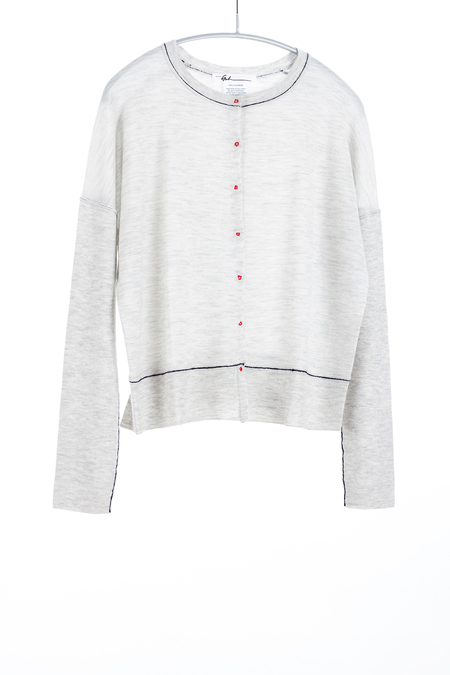 Paychi Guh Cashmere Crew Neck Cardigan - Dove Grey