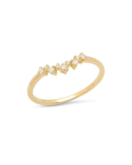 Sachi Jewelry Curved Prong Band