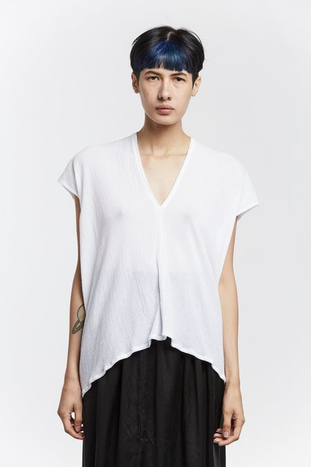 Miranda Bennett Everyday Top, Cotton Gauze in White