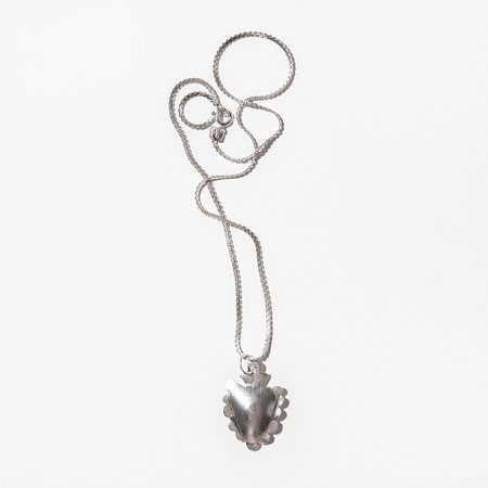 Found By Kindred Black Sterling Silver Heart Milagro Necklace