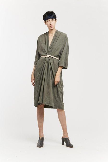 Miranda Bennett O'Keeffe Dress - Silk Noil in Savannah