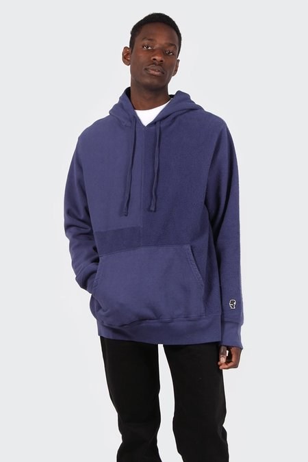 Brain Dead Panelled Hoodie Sweatshirt - Dull Berry