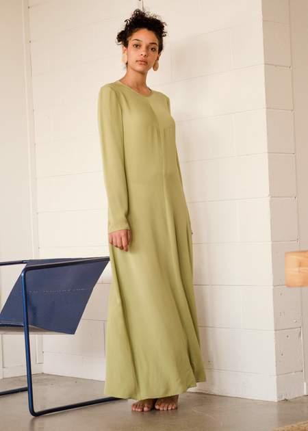 Penny Sage Lily dress - avocado