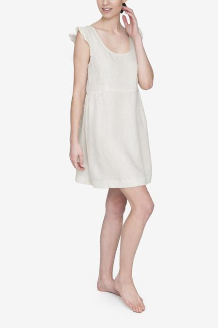 The Sleep Shirt Scoop Neck Nightie - Oatmeal Linen
