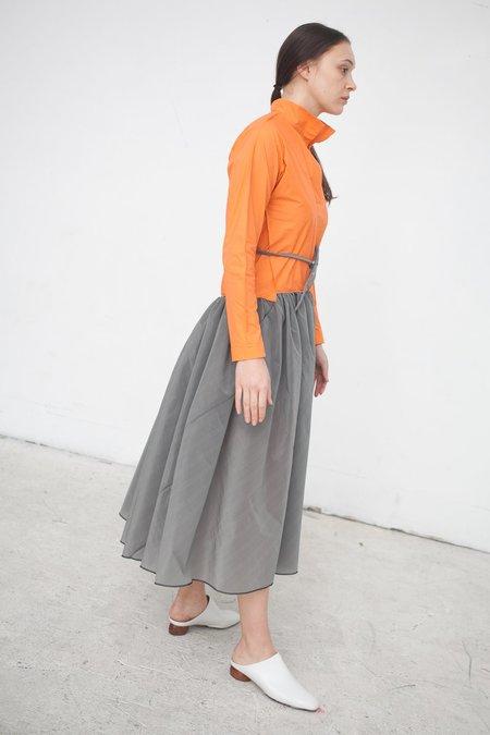 Ter et Bantine Bicolor Dress in Orange/Grey