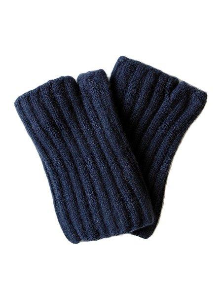 Kapital Navy Short Fingerless Gloves