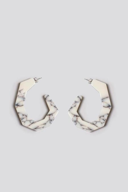 Rachel Comey Factor Earring in White Marble