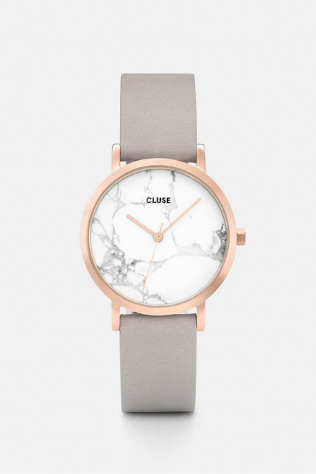 Cluse Watches La Roche Petite - Rose Gold White Marble/Grey