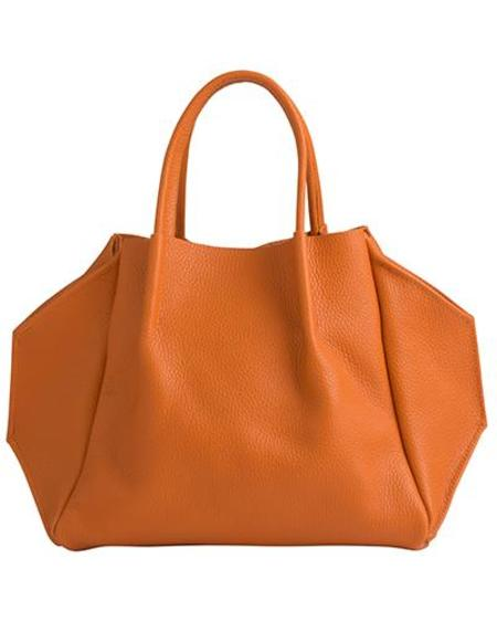 Oliveve Zoe Tote in Papaya Pebble Cow Leather