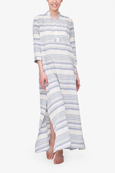 The Sleep Shirt Full Length - Beach Stripe
