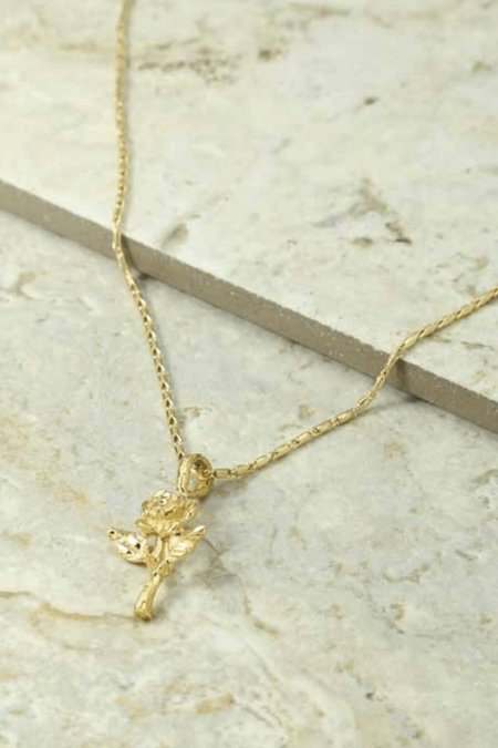 Vanessa Mooney Baby Rose Necklace - Gold