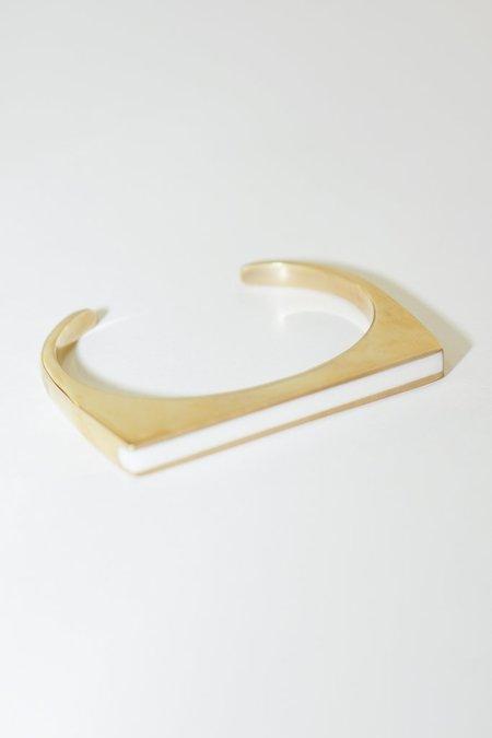 Soko Horn Line Cuff in White