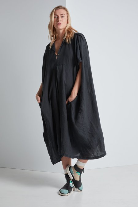 Black Crane Kite Dress - Green Black