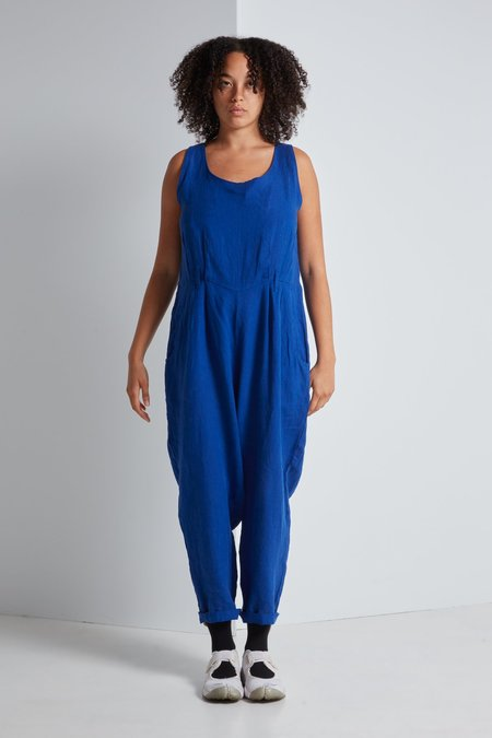 Black Crane Overall - Royal Blue