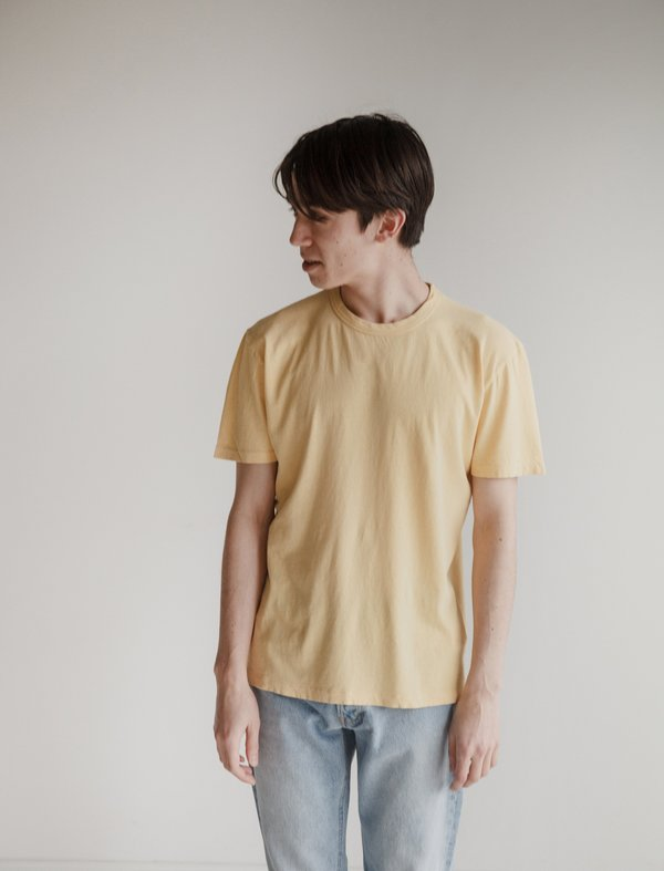 Our Legacy Perfect T-Shirt - Sun Yellow Army Jersey