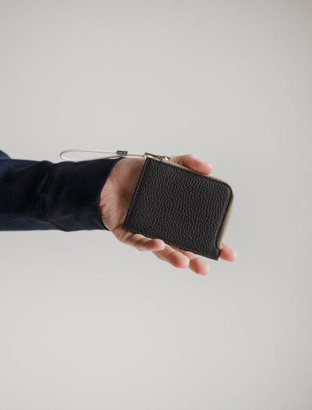 Our Legacy Tuner Zip Wallet - Grain Black