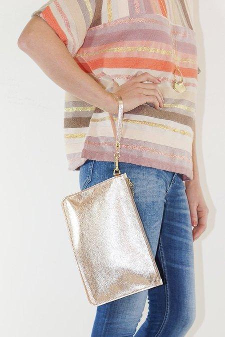 Garayalde Clutch in Rose Gold with Pearls