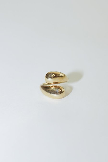 Soko Twisted Brass Dash Ring