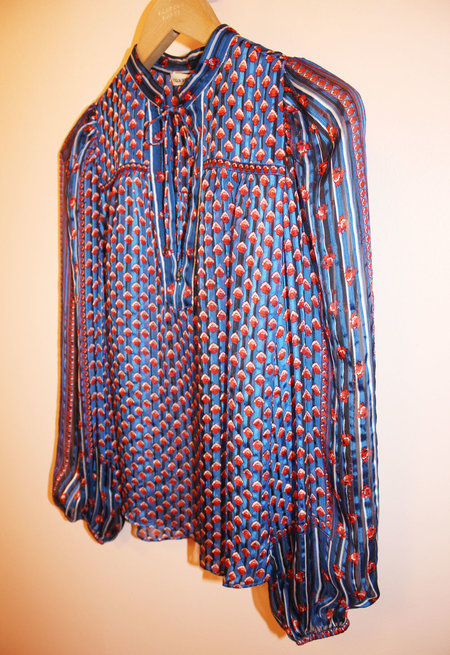 Ulla Johnson Constance Blouse in Cerulean