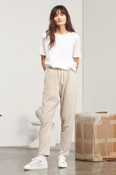 Kowtow Building Block Lounge Pant in Natural Marle