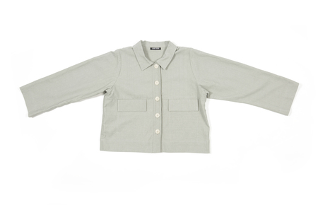 Ilana Kohn Mabel Crop Jacket in Clay