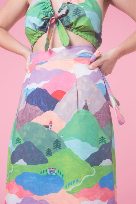 Samantha Pleet Yodel Skirt in Hills Are Alive
