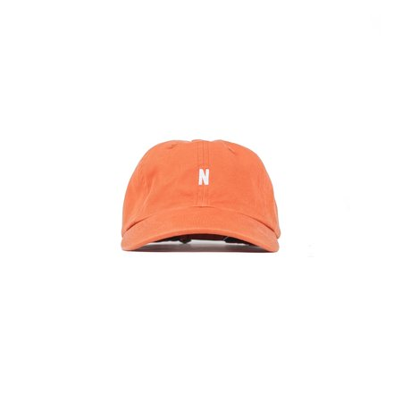 Norse Projects Light Twill Sports Cap - Burned Red
