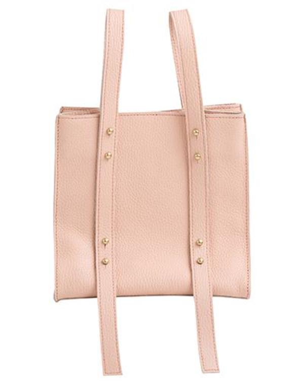 Oliveve Keira Convertible Strap Tote In Cameo Pebbled Leather