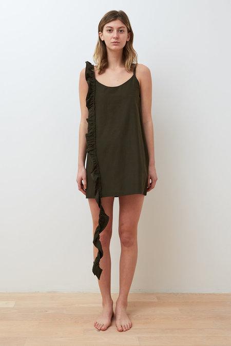Collina Strada Copy of Slacker Ruffle Dress - Army Denim