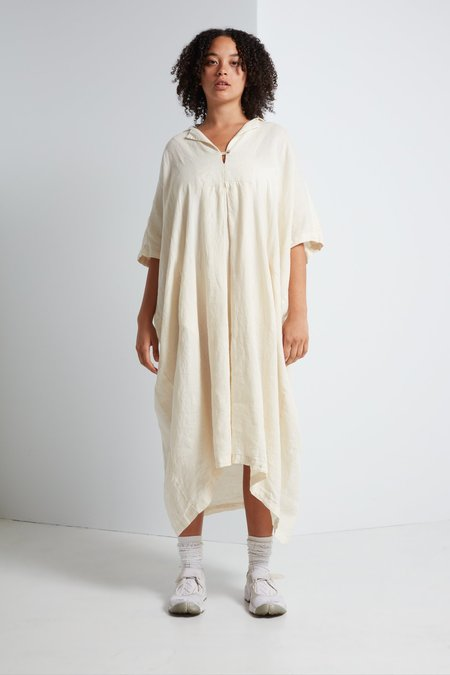 Black Crane Kite Dress in Cream