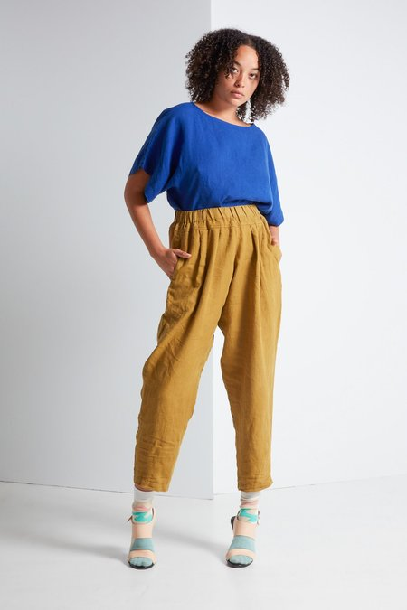 Black Crane Carpenter Pant in Mustard