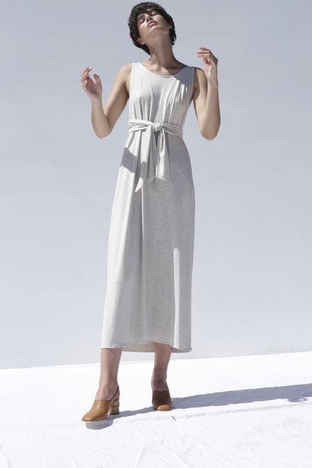 Shaina Mote Tie Dress in Salt