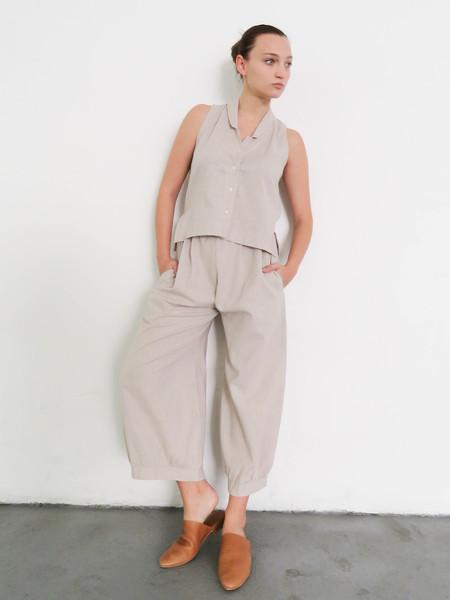 Ilana Kohn Mo Pants - Beige Stripe