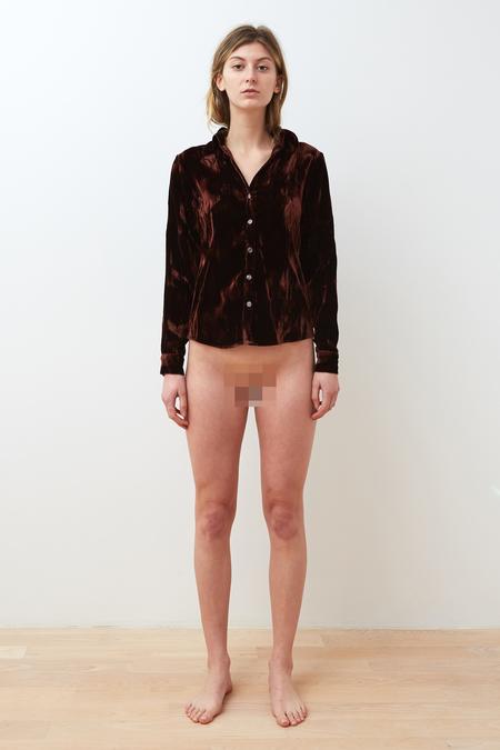 Collina Strada Freelance Top - Crushed Brown Velvet
