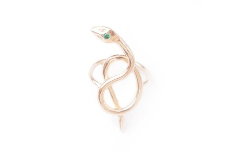 Nina Berenato Coiled Serpent Ring