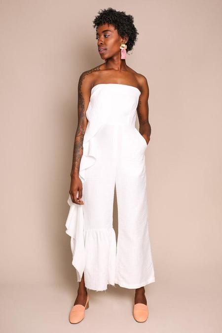 Rachel Comey Revel Jumpsuit in White