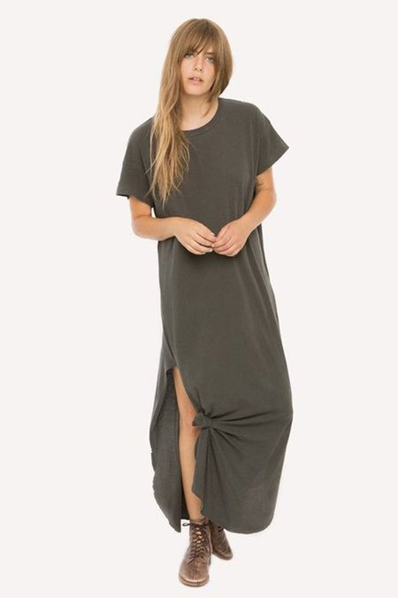 The Great. The Knotted Tee Dress - Washed Black