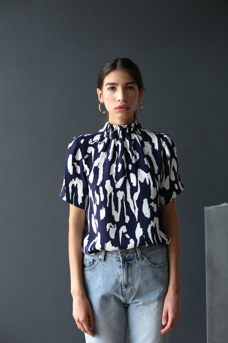 Just Female Wolf Blouse - Camu Cats White
