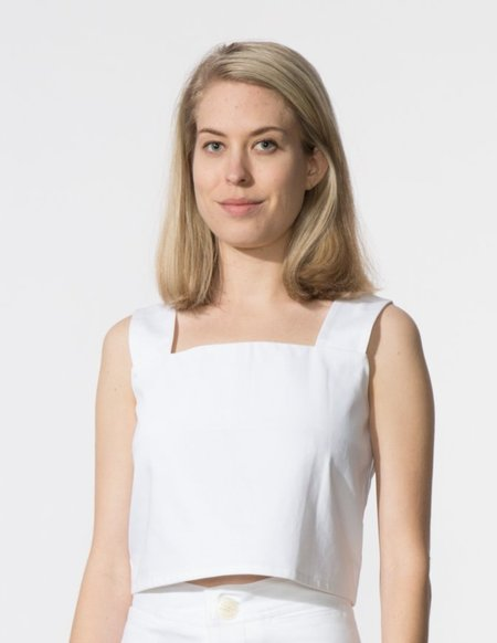 SBJ Austin Caroline Top - White Denim