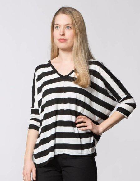 SBJ Austin Jan Top - Black & White Stripe