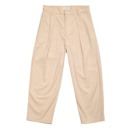 Pleated Trouser - Natural (SS18)