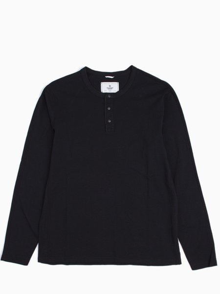 Reigning Champ Knit Cotton Jersey Long Sleeve Henley