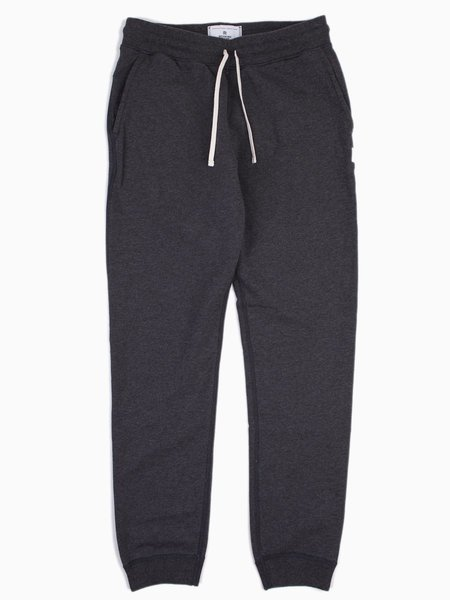 Reigning Champ Knit Midweight Terry Slim Sweatpant - Charcoal