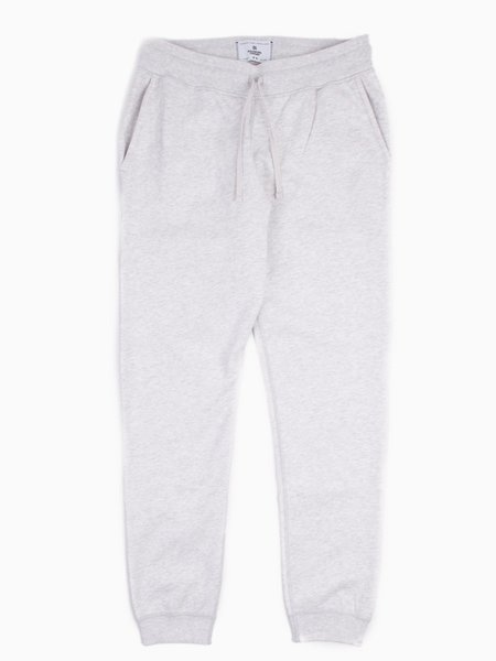 Reigning Champ Knit Midweight Terry Slim Sweatpant - Heather Ash