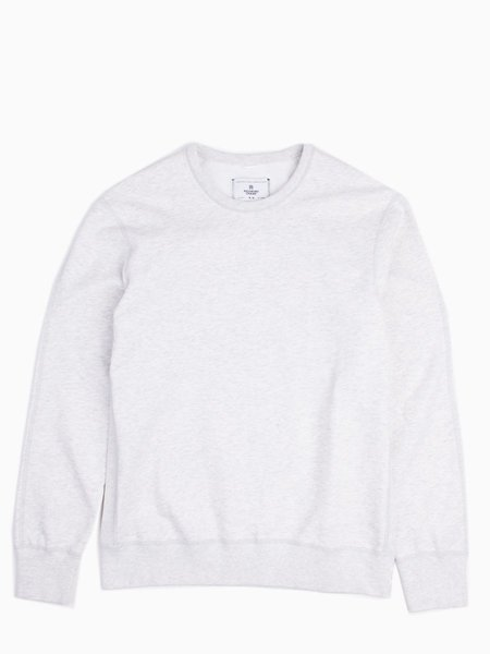 Reigning Champ Midweight Terry Long Sleeve Crewneck - Heather Ash