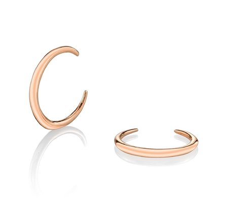 Gabriela Artigas 14K Rose Mini Rising Tusk Earrings