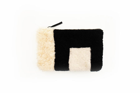 Sheepskin Patchwork Clutch
