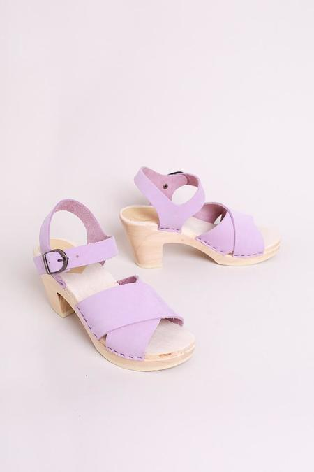 No.6 Coco Cross Front Sandal in Violet