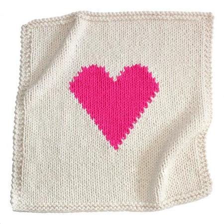 Kid's Yarningmade Handknit Heart Blanket