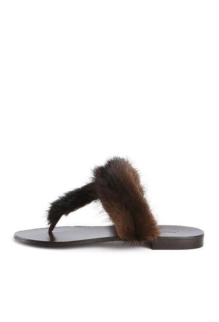 Jenni Kayne Fur Sandals